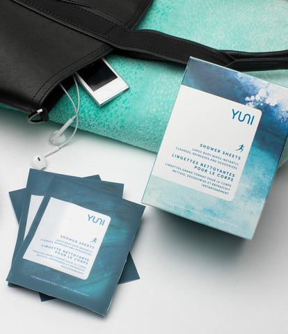 Shop the waterless shower sheets from YUNI
