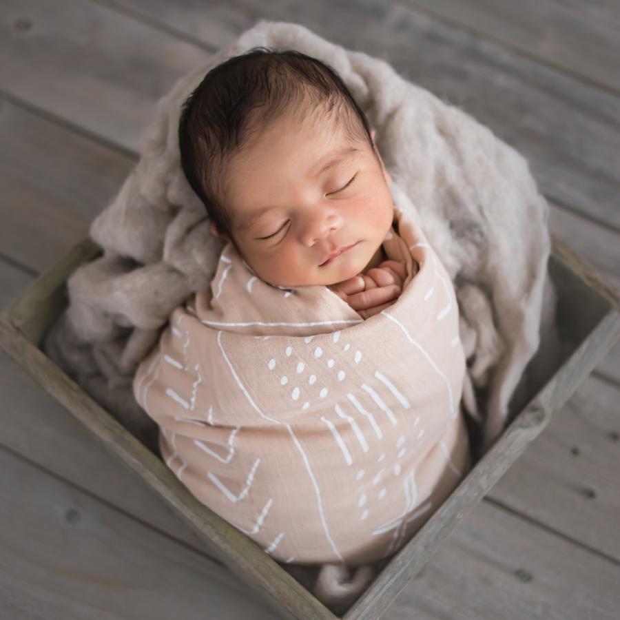 Organic cotton swaddles for infants and newborns