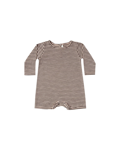 Stripe Dash Romper - Oat/Black