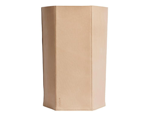 Paper Bin Hexagon - Leather