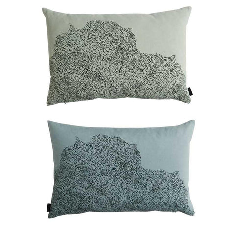 Dream Dot Cushion in Pale Blue / Pale Green