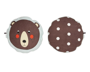 Oyoy Bear Cushion - Brown
