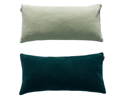 Lia Cushion in Dark Green / Pale Green