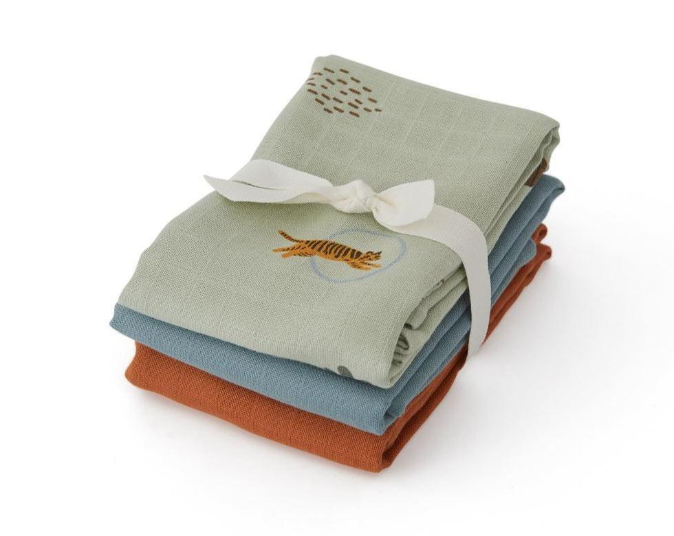 Oyoy Muslin Square - Tiger - 3 Pcs/Pack