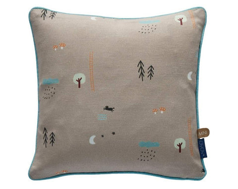 Happy Forest Cushion - Light Brown