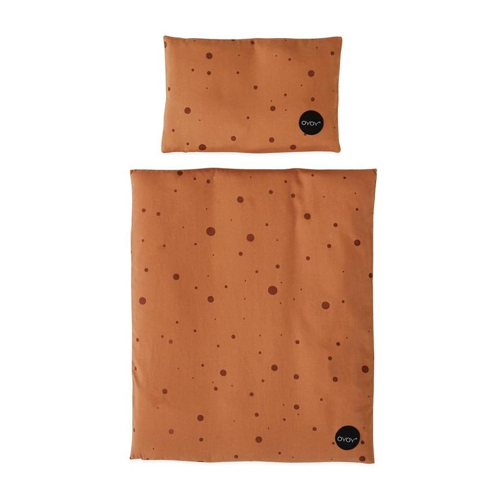 Doll Bed Bedding - Dot - Caramel