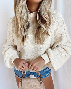 Vienna Sweater - Vanilla Cable Knit
