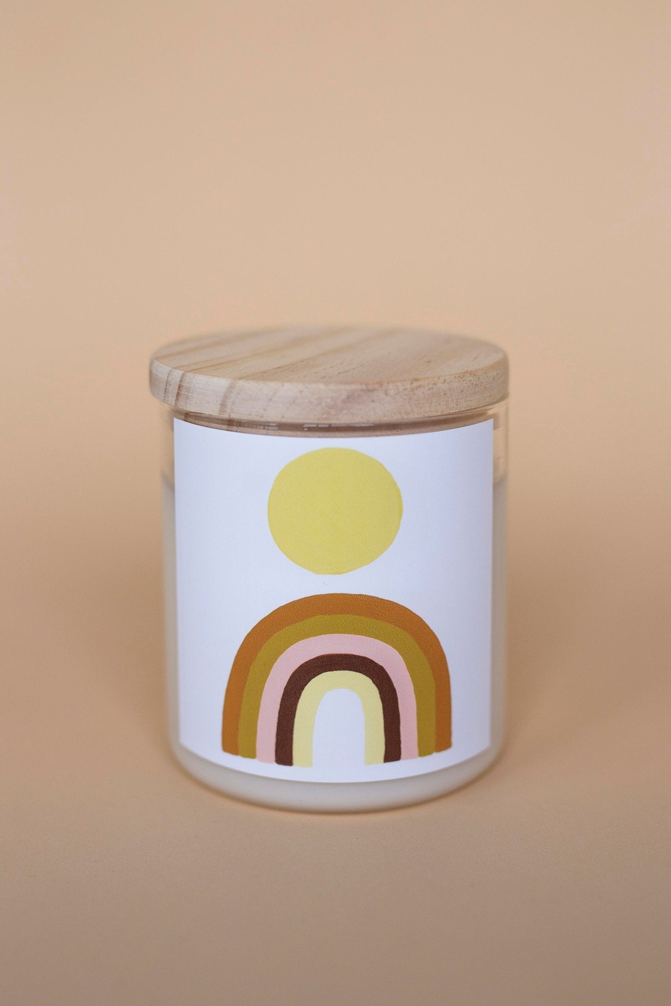 Load image into Gallery viewer, Rainbow Sun Candle by Natalie Jade