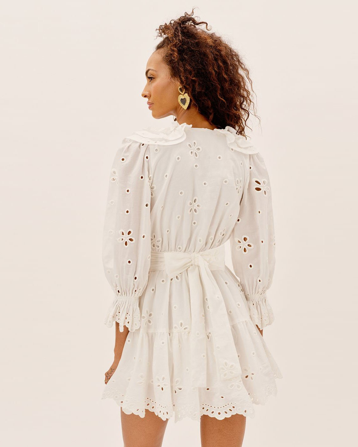 Load image into Gallery viewer, Serena Mini Dress - White | For Love and Lemons - Women's Clothing