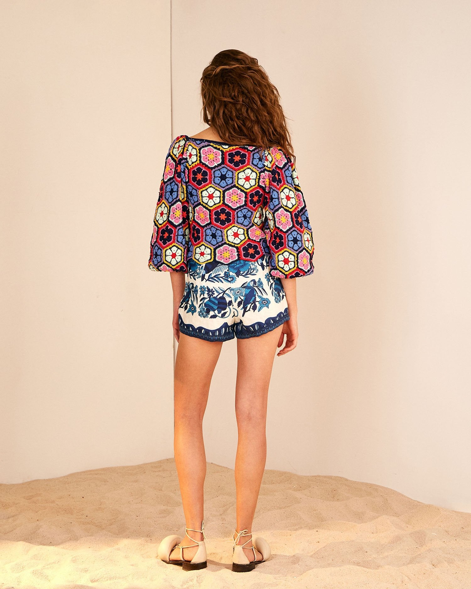 Load image into Gallery viewer, Marys Garden Blouse | Farm Rio - Women's Clothing