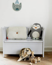 Load image into Gallery viewer, Penguin Pingo Cushion in White / Black