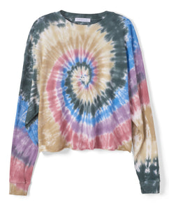 Autumn Tie Dye Long Sleeve Crop | Daydreamer LA - Women's Clothing