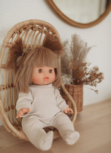 Minikane x Sew Ono Handmade - Birch Bark Footies | Organic Doll Clothing