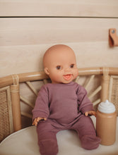 Load image into Gallery viewer, Minikane x Sew Ono Handmade - Mauve Footies | Organic Doll Clothing