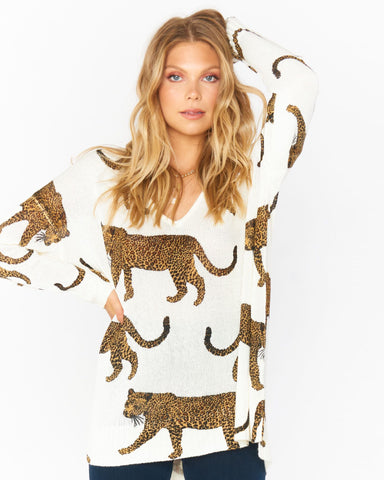 Hug Me Sweater - Tossed Leopard Knit