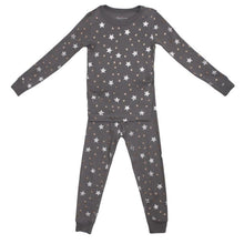 Load image into Gallery viewer, Grey Stars Long Sleeve Pajamas by Skylar Luna