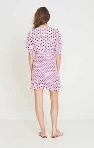 Faithfull The Brand Margherita Mini Dress Sylve Dot Print Party Dresses