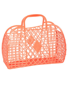 Retro Basket- Large Neon Orange | Sun Jellies - Women's Handbags
