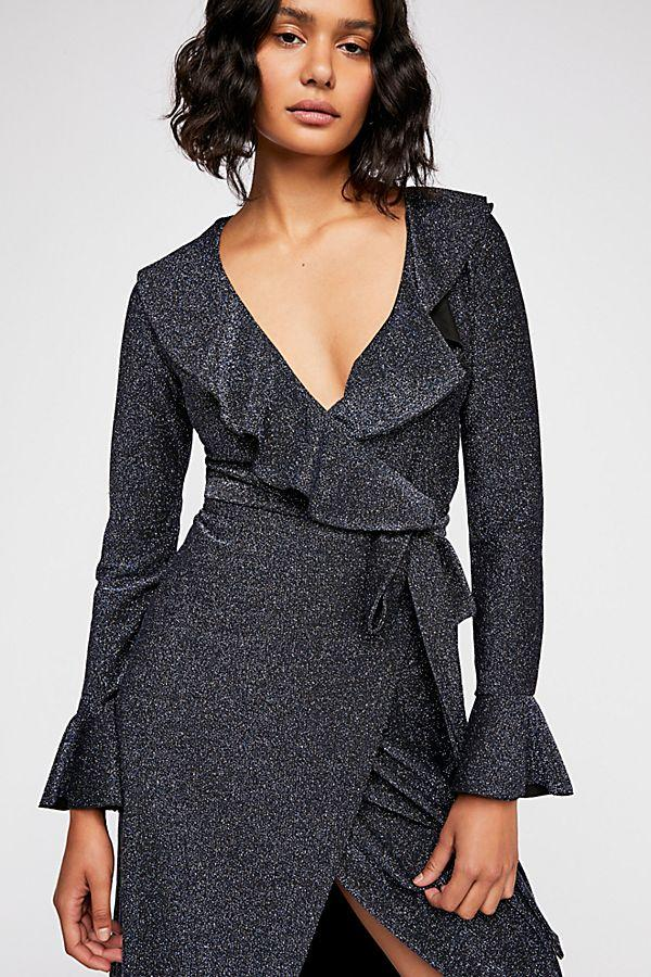 8ce03434 ... Load image into Gallery viewer, One More Time Lurex Wrap Dress by Free  People ...