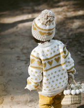 Load image into Gallery viewer, Love Sweater - Oatmeal Mustard
