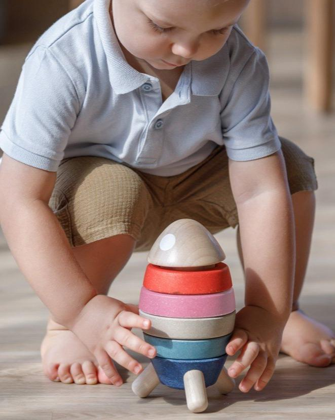 Stacking Rocket - Orchard | PlanToys - Pretend Play