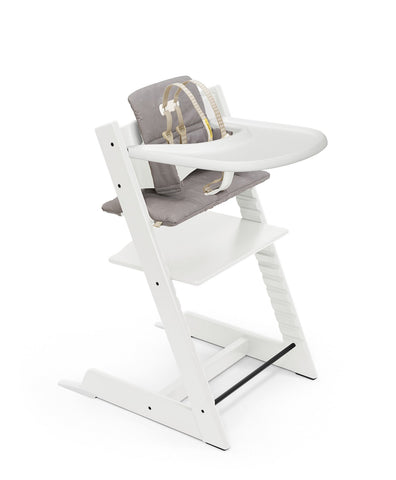 Presale: Tripp Trapp High Chair Complete White w/ Icon Grey