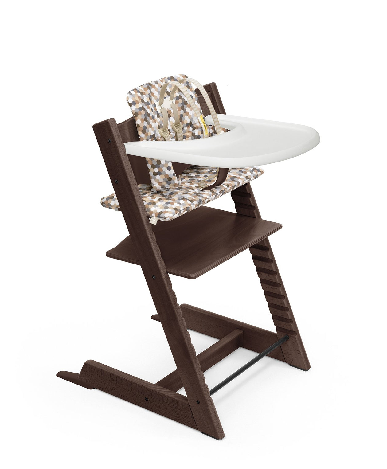 tripp trapp high chair complete walnut with honeycomb