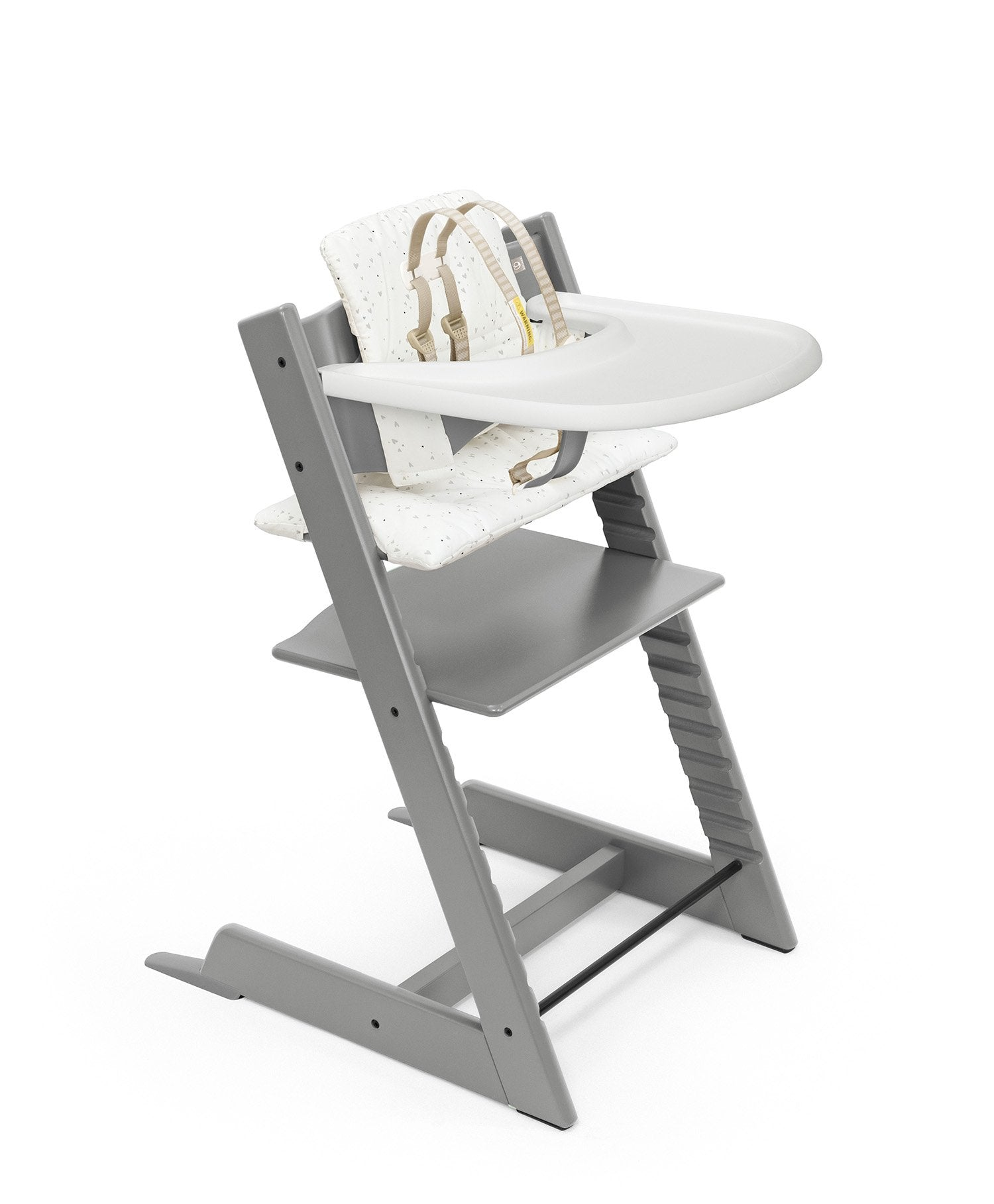 Load image into Gallery viewer, storm grey with sweethearts high chair complete