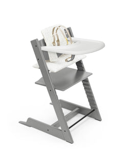 storm grey with sweethearts high chair complete