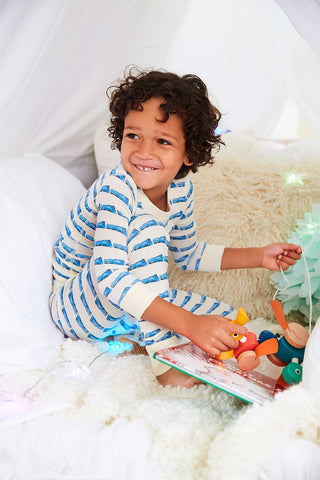 Trains Long Sleeve Pajamas by Skylar Luna