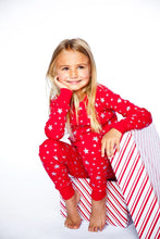 Load image into Gallery viewer, Red/Silver Stars Long Sleeves Pajamas - Bohemian Mama
