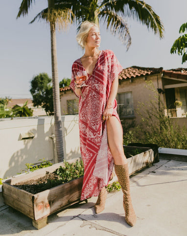 The Margot Caftan - Ruby Calalily