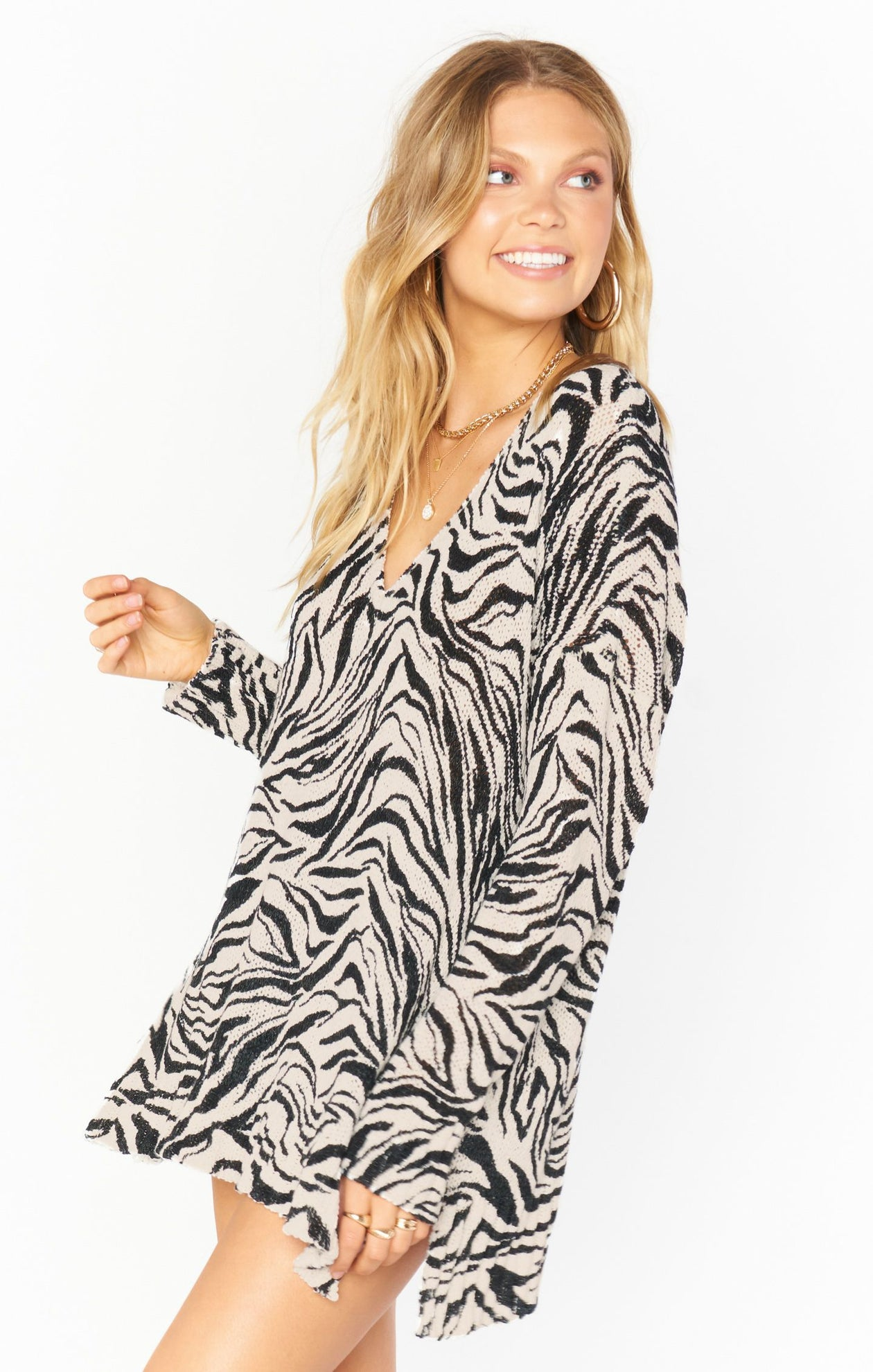 Hug Me Sweater - Coconut Zebra Knit | Show Me Your Mumu - Women's Sweaters