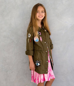 Makena Army Jacket Hippie At Heart by Miki Miette