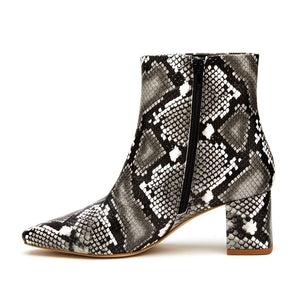Cocoa - Black/White Snake | Matisse Women's Boots Fall 2020 Coconuts