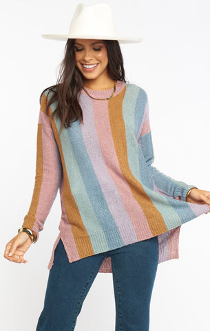 Elodie Sweater - Dusty Stripe Knit
