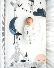 Load image into Gallery viewer, Rookie Humans The Moons Birthday Standard Size Crib Sheet