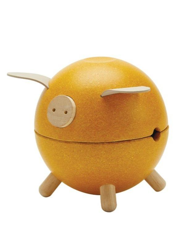 Load image into Gallery viewer, Piggy Bank - Yellow - Orchard | PlanToys - Educational Toys
