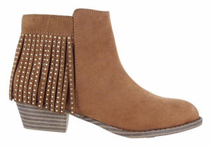 Honeybee Fringe Boot by Mia Shoes