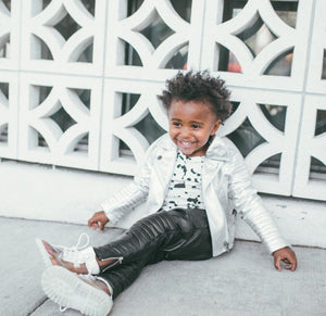 Unisex Leather Jacket By Eve-Jnr in Lux by Eve-Jnr