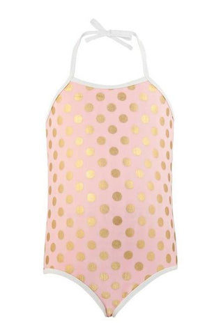 Ballet Dots Halter Swimsuit