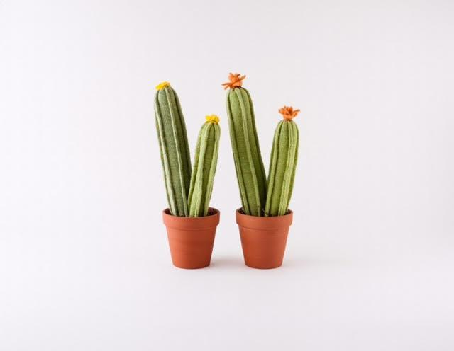 Load image into Gallery viewer, Hand-Knitted Cactus Pots Decor