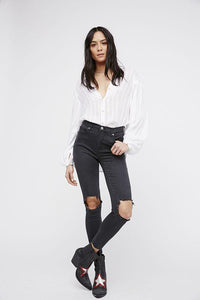 High Rise Busted Skinny by Free People