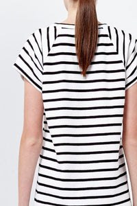 Rapture Stripe Oversize Tee by Shilla The Label
