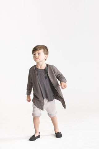 Kids Asymmetrical Shorts in Terry