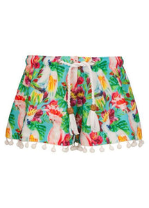 Tropical Birds Swim Shorts - Bohemian Mama