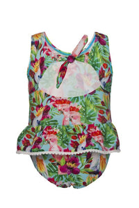 Tropical Birds Baby Skirted Swimsuit by Snapper Rock