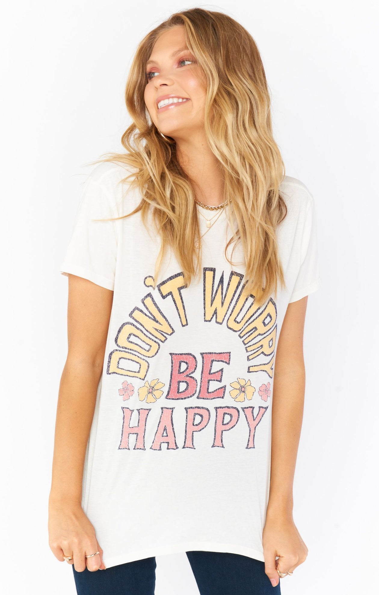 Thomas Tee - Be Happy Graphic | Show Me Your Mumu - Women's Graphic Shirts