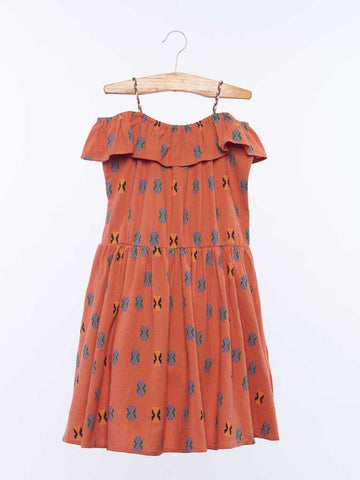 Estela Dress - Ginger Aztec