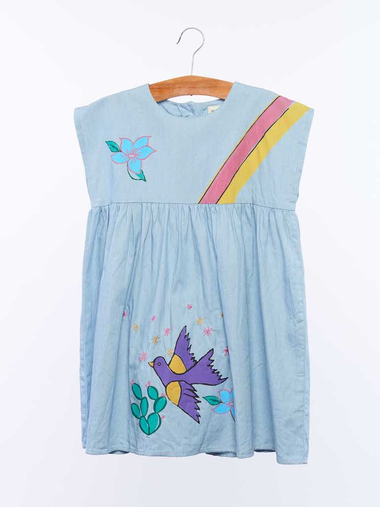 Load image into Gallery viewer, Dulcie Dress - Denim from Wander & Wonder - Girls